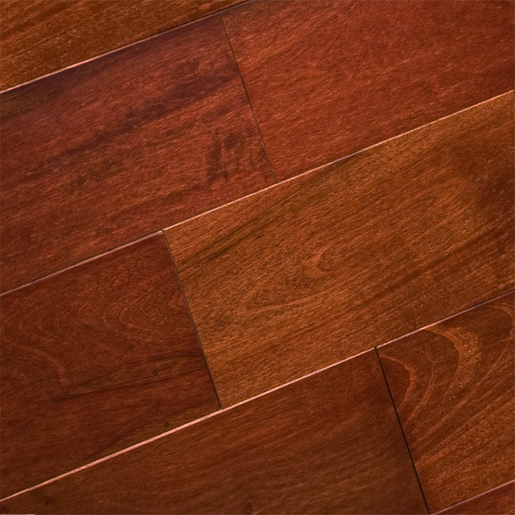 African Cherry Flooring: Tiete Rosewood Mahogany Prefinished Clear 4125