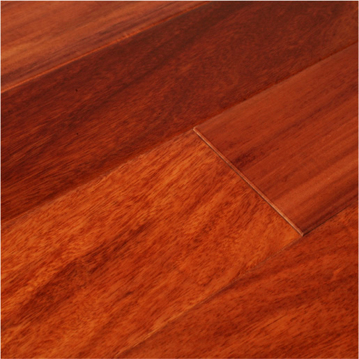 "Santos Mahogany 3/4"" x 3"" x 1-7' Clear - Prefinished Flooring"