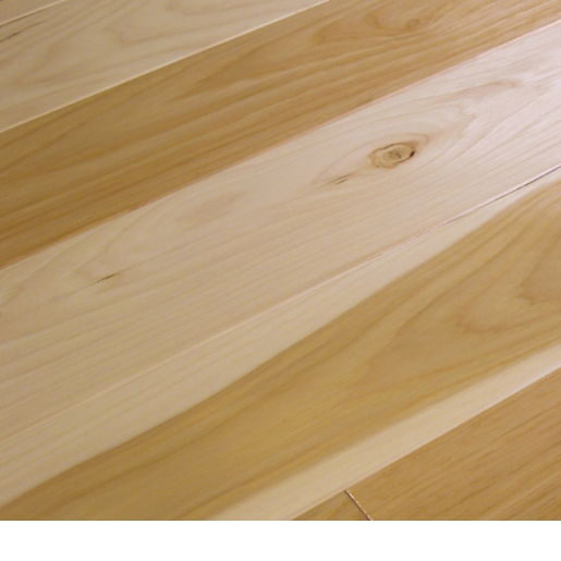 Hickory natural 3 4 x 5 x 1 7 39 mill run smooth for Mill run grade hardwood flooring