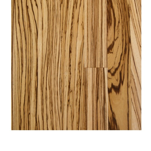 Zebrawood Select and Better 1.0mm Wear Layer Engineered Prefinished Flooring