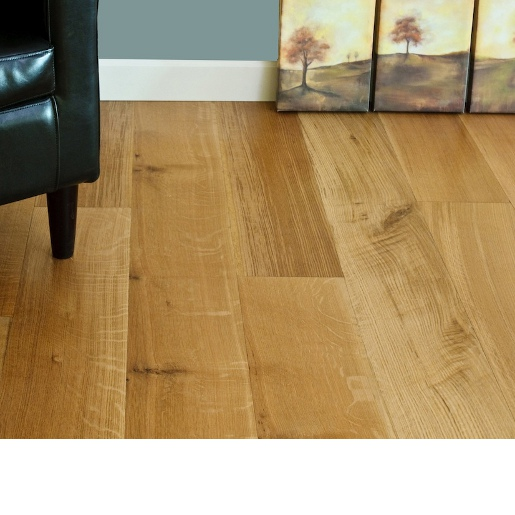 White Oak Character Grade 4mm Wear Layer Engineered Unfinished Flooring
