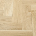 White Oak Herringbone Unfinished Flooring