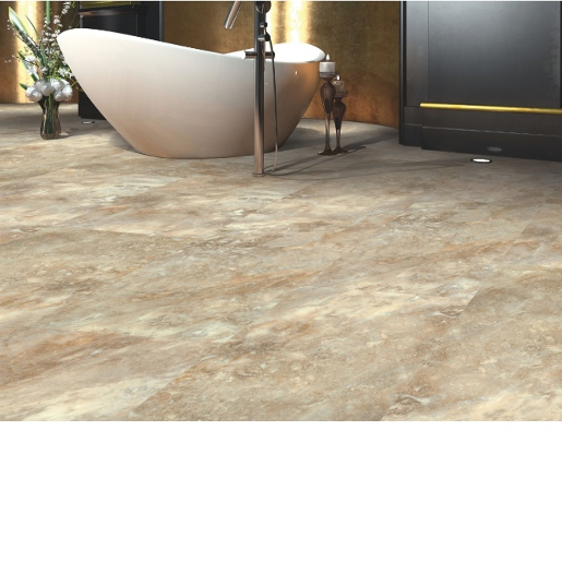 Luxury Vinyl 20 mil Surface Layer with Attached Sound-Buffering Pad