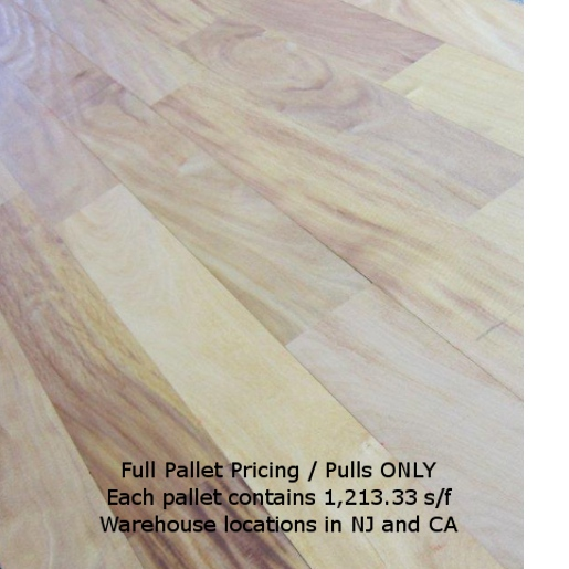 Garapa / Golden Teak Clear Mixed  Full Pallets ONLY Unfinished Flooring