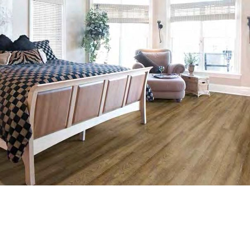 Luxury Vinyl 20 mil Surface Layer with Attached Cork Underlayment