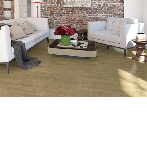 Luxury Vinyl 20 mil Surface Layer SPC Floating Floor with Sound-Reducing Pad