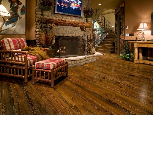 Heart Pine Rustic Grade Unfinished Flooring