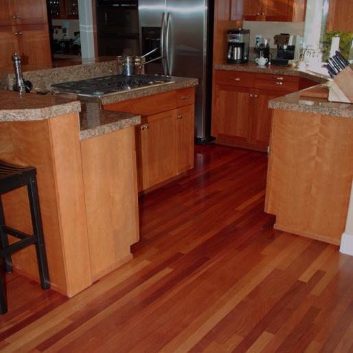 Brazilian Cherry Flooring - Brazilian Cherry Hardwood Flooring - Prefinished Engineered