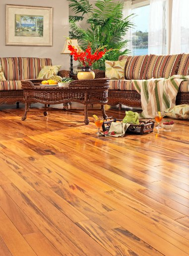 Tigerwood Clear Prefinished Flooring