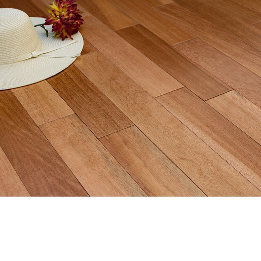 Prefinished Taun Solid Hardwood Flooring 5 8 X 4 3 4: Samoan Mahogany / Taun Natural Prefinished Select Better 7118