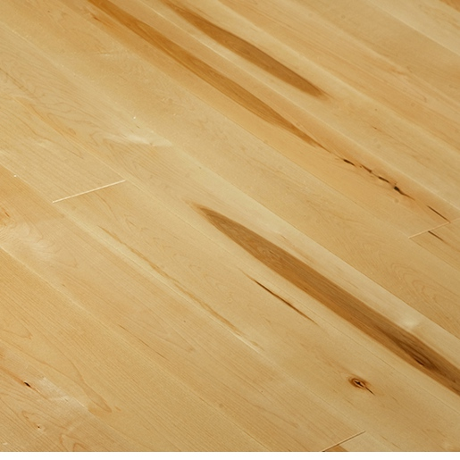 Curly Maple Wood Flooring: Maple Natural Character Engineered Distressed Mill Run 5038