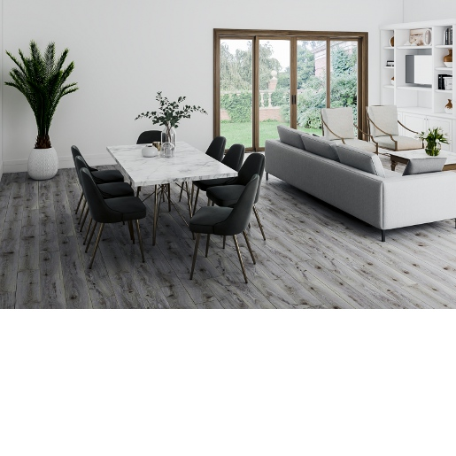 Luxury Vinyl Deep Embossed 20 mil Surface Layer SPC Floating Floor with Sound-Reducing Pad