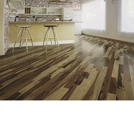 Brazilian Hickory Select and Better 3mm Wear Layer Engineered Prefinished Flooring
