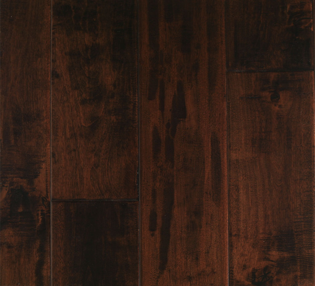 Birch chestnut 11 16 x 4 7 x 1 39 4 39 1 com handscraped for Black hardwood flooring