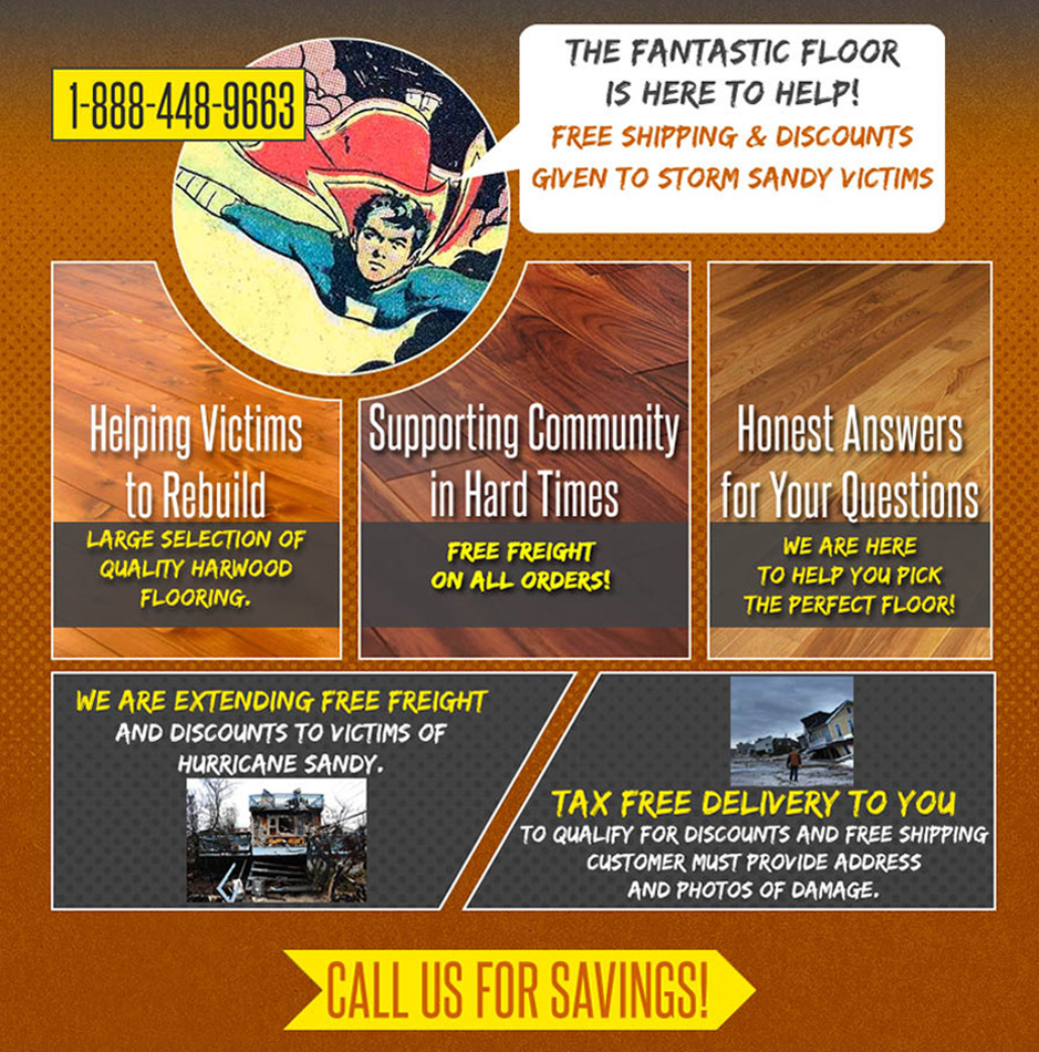hardwood flooring discounts for hurricane sandy victims